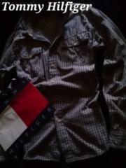 【Tommy Hilfiger】Vintage Washed カジュアルコットンシャツ L/インディゴ染め