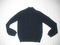 27 男 NAUTICA ノーティカ 黒 セーター M