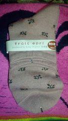新品!日本製の靴下♪カシミアmix♪ピンク系♪花柄♪