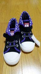新品 こども靴 キッズ スニーカー 17cm   女の子 紫