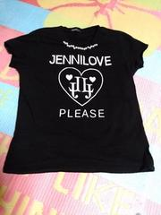 JENNIラブ・ロゴ半袖Tシャツ165ブラック