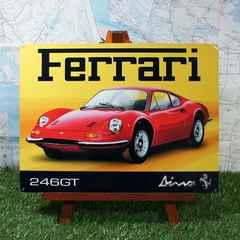 新品【ブリキ看板】Ferrari/フェラーリ Dino246GT