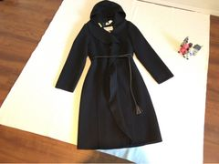 MaxMara マックスマーラ 高級ウール100%コート 40 黒 1回着用美品 30万