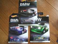 3種セット ホットウィールBMWアニバーサリー 2002 M3 GT2 Z4 M