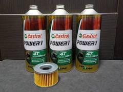 CBR400F castrol製 エンジンオイル&エレメント  CBX400F