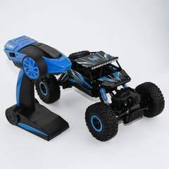 ラジコンカー 2.4Ghz 四駆 高時速疾走 ブルー