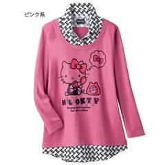 ◆新品◆ハローキティ◆プルオーバー◆L◆ピンク♪