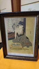 明治時代→浮き世絵女体洗足図→額有り→舟調画