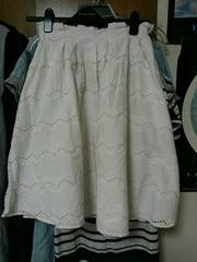 duzzlin 白スカート 綿100% 夏用 フリーサイズ 7〜9号M
