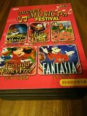 Disney5枚組DVDBOX★ミュージックフェスティバルアニメミッキー