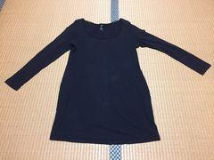 H&M☆カットソー☆Tシャツ☆チュニック☆黒☆EUR L
