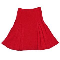 新品モスキーノMOSCHINOニットスカート 赤 #38