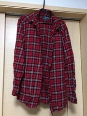 UNIQLO!赤チェック柄ネルシャツ!美品XLサイズ