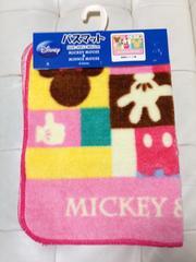 新品☆ミッキー&ミニー☆パッチワーク風カラフルバスマット