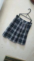 ニコルクラブKids165☆タータンチェック柄チェーン付きプリーツスカート
