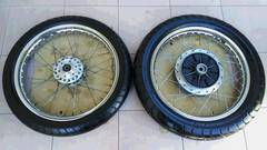 GS400 スポークホイール&タイヤ良品GT380GSX400CBX400セブンスターHリムBEETキャスト