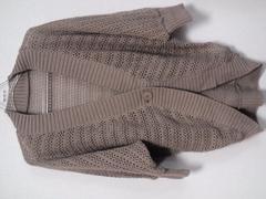 新品ビバユー\14700カギ針編みカーディガンピンダイスライ
