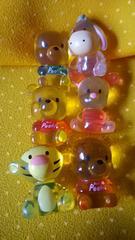 即決 クマのプーさん クリスタル ミニフィギュア ディズニー 全6種類