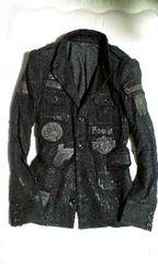 ROEN ロエン スカル総柄刺繍ワッペンコーティングジャケット 46