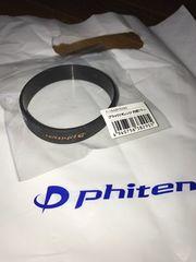 新品非売品phitenファイテンラバーベルトブラックロゴ17cm