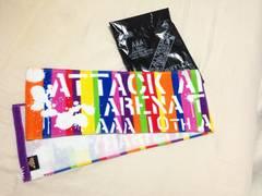 AAA10thアニバーサリー虹(レインボーカラー)マフラータオル