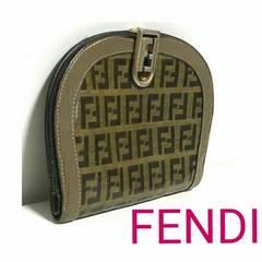 FENDI ヴィンテージ 財布 カーキ ブラウン レディース メンズ