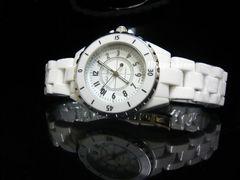 新品◇腕時計◇ホワイト セラミックJ12風/シャネル好きに