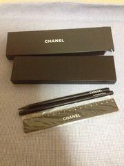 未使用・シャネルノベルティ筆記具set>鉛筆、筆箱