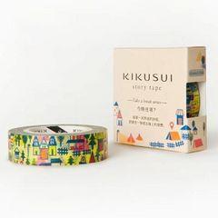 台湾製KIKUSUI story tape今晩どこ泊まる?マスキングテープ