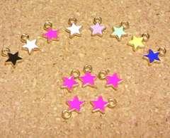 カラーチャーム星5個濃ピンク