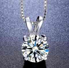 特A品 新品 1円〜★送料無料★ 大粒3ct ダイヤモンド シルバー925 ネックレス