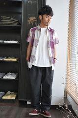 インド綿■半袖シャツ/USEDチェックシャツコットンシャツUS古着
