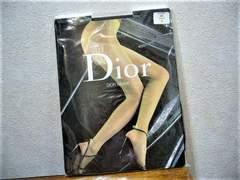 未使用Christian Dior/足首小リボン付ストッキング