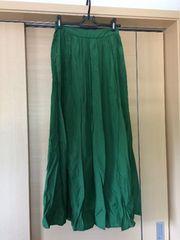 ジェイダ!GYDA!グリーンマキシスカート美品!sサイズ