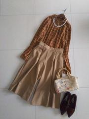 新品♪SPINNS★秋色ブラウンベージュのオトナ可愛いスカーチョ