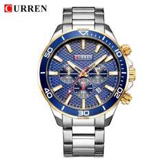 新作◆正規CURREN腕時計◆シルバーMIX BIGフェイス◆海外限定