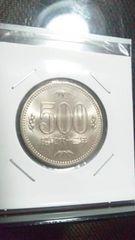昭和62年500円 ロール出し 完全未使用