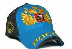 ロシア刺繍キャップ アポロキャップ 青 送料無料!