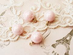 パールチャーム10�o4個ピンク