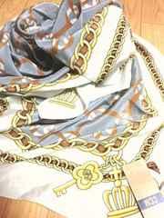 定価付き新品 シーシーエム/CCM アンティーク鎖絵柄スカーフ