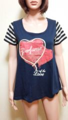 大きめTK MIXPICE金ラメロゴAラインTシャツ T22☆3点で即落