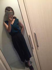 トランテアン☆2016タックセンタープレスワイドパンツ36美品♪