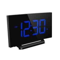 目覚まし時計 置き時計 大型LED 電源式