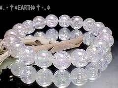 天然石★10ミリ 爆裂水晶アクアクラック水晶AAA数珠