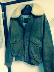 羊革ボアフライトジャケット