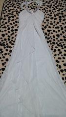 中古難有り☆キャバ☆白ビジューロングドレス