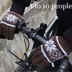 1to10people【新品タグ付き】ノルディック柄手袋 Brownブラウン