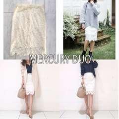 新品タグ付き MERCURY DUO 起毛レースタイトスカート