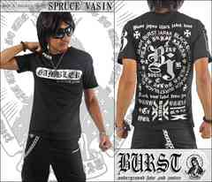 メール便送料無料【MAD BURST JAPAN】70536Tシャツ黒銀XL