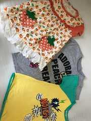 夏服 半袖Tシャツ カットソー3枚セット 130センチ